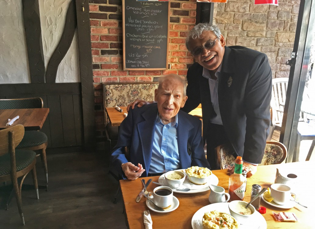 Bishop Rennis with Dr JI Packer in Vancouver recently.
