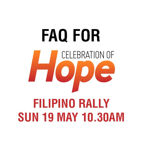 Celebration of Hope FAQ