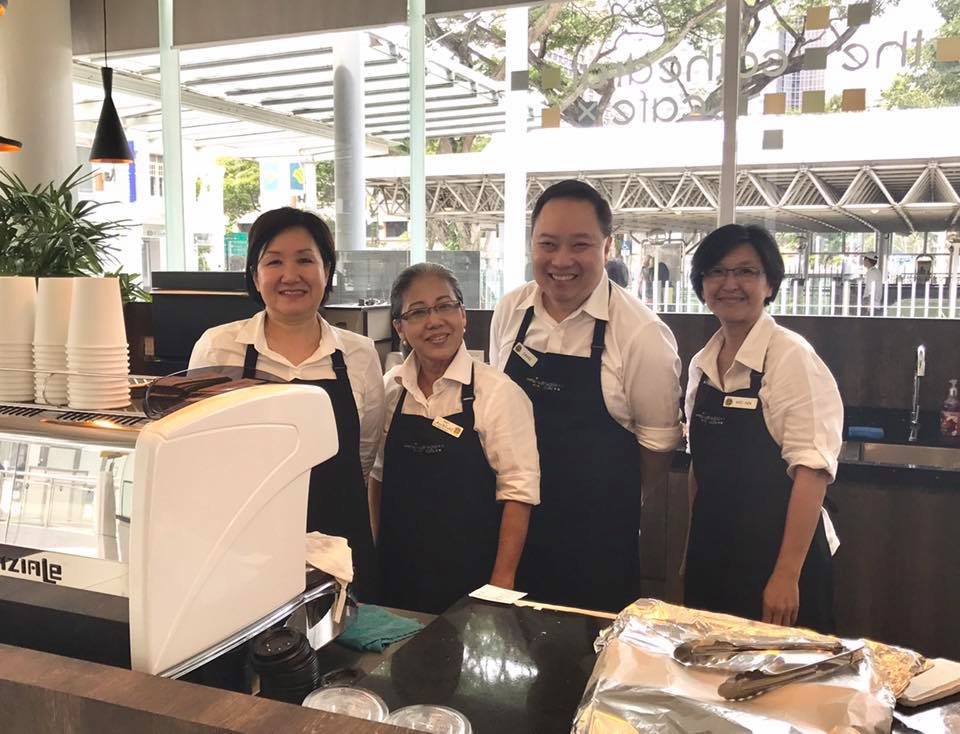The Baristas: David Pooh, Catherine Goh, Monica Lee and Wei Ying are here to serve you!