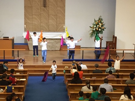 Children performance at Christmas Saturday Service