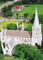 Aerial Shot of Cathedral Building