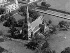1940 Aerial Shot of Cathedral