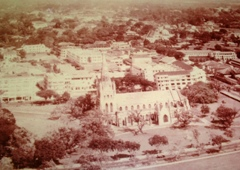 An aerial shot of Cathedral from Padang